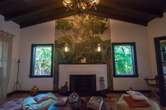 Casa Della in Miami, Mural by the late great Everglades muralist Earl Lapan circa Miami Beach Hotels, World's Fair, Mural Painting, 1930s, Design, Home Decor, Decoration Home, Room Decor, Wall Mural