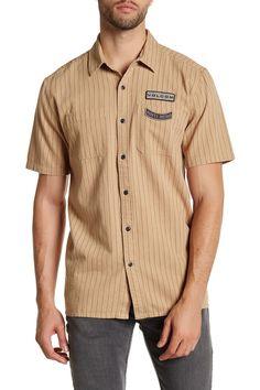 Antihero Stripe Classic Fit Short Sleeve Shirt