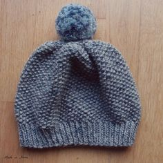 Easy knitting pattern for a simple and cute toddler beanie hat