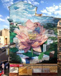 STREET ART UTOPIA » Street Art by Rustam QBic in Moscow, Russia