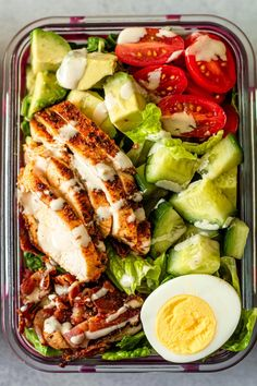 Easy Healthy Meal Prep, Easy Healthy Recipes, Healthy Lunch Meals, Easy Lunch Meal Prep, Healthy Meal Options, Simple Healthy Lunch, Meal Prep Salads, Meal Prep Keto, Healthy Delicious Meals
