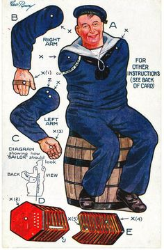 A Sailor paper doll