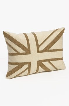 Nordstrom at Home 'Union Jack' Beaded Pillow Cover available at #Nordstrom.  I want one of each!