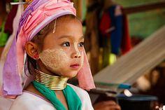 Kayan or Padaung hill tribe girl, Thailand
