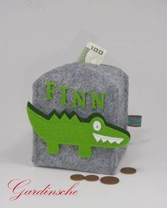 Spardose für Kinder aus Filz / felt piggy bank for kids made by Gardinsche via DaWanda.com