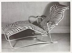 Marcel Breuer, Aluminium Lounge Chair with Zebra Print Upholstery, 1933. Breuer began his career as a furniture designer. He excelled in his carpentry studies at the Bauhaus, eventually heading the workshop. His early experiments in wood owed much to the De Stijl movement, in particular the furniture of Gerrit Rietveld. The first real breakthrough occurred in 1925, when, inspired by the frame of a new bicycle, he began to design chairs in tubular steel. Breuer eventually designed a whole…