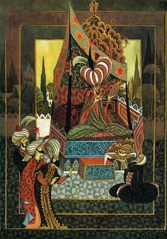 DesertRose,;,Living Lines Library: Influence on The Thief and the Cobbler: Errol Le Cain's Aladdin,;,