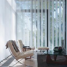Laat u inspireren door Luxaflex® raamdecoratie. Verticale jaloezieën