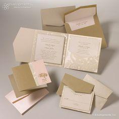 Elegant Pocket Fold Wedding Invitation by SuitePaper on Etsy