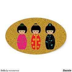 Dolls Oval Sticker #Doll #Asian #Asia #Japan #Japanese #Sticker