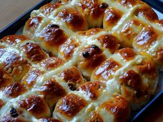 A British Easter classic: hot cross buns.  Best recipe ever for fluffy and sticky hot cross buns.  Photo©Aybige Mert