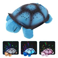 New Creative Turtle LED Night Light Luminous Plush Toys Music Star Lamp Projector Toys for Baby Sleep 4 Colors YZT0147