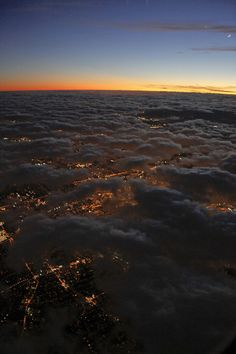 This is what I saw flying home from Colorado.  So neat to look down at all the cities lights.