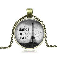Bronze Glass Pendant Dance in The Rain Pendant by Chasingdreams97