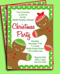 Free Christmas Party Invitations Printable