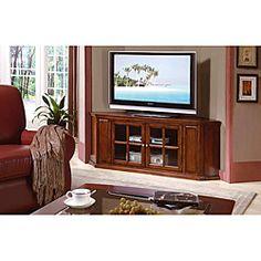 oak solid wood and veneer 62 inch corner tv stand amazoncom furniture 62quot industrial wood