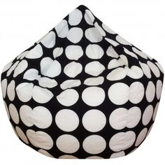 Black And White Spot Bean Bag Cover