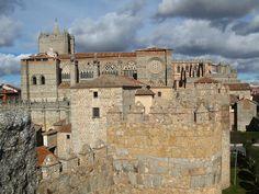 Gothic cathedral in Avila, Spain