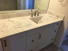 Sterling Silver cultured marble with a large square integrated sink ...
