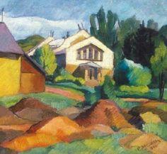 Abrudan, Petre - The artist colony in Nagybánya, 1936