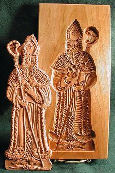American Artisan Gene Wilson's St Nicholas gingerbread mold