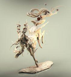 Deer phantom beast[鹿 幻獣]~, keita okada on ArtStation at https://www.artstation.com/artwork/qx6LR