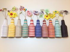 24 charming and cheap ideas for valentine's day decorations - UPCYCLING BOTTLES