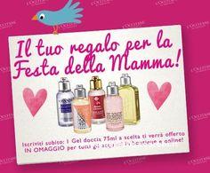 Gel doccia L'Occitane omaggio, Festa della Mamma - DimmiCosaCerchi.it