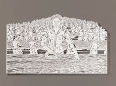 Extraordinary Scenes Hand Cut from Rice Paper by Bovey Lee