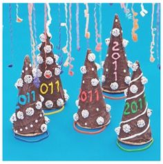 new years eve cone hats