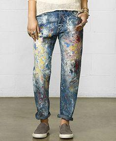 Denim & Supply Raph Lauren Paint Splatter Boyfriend Jeans
