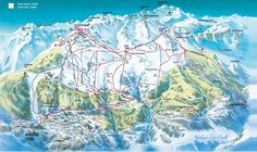 Ski slopes Anzere - Plan du domaine skiable d'Anzère where I first learnt to snowboard Must've been 1991 Go Skiing, Family Apartment, Ski Slopes, Mountain Living, Real Estate Agency, Swiss Alps, Location, Snowboard, Winter Wonderland