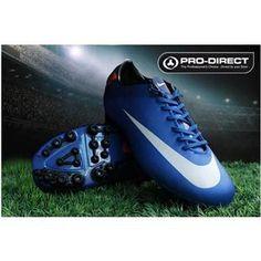 http://www.asneakers4u.com Mens Soccer Cleats Nike Jnr Mercurial Victory II AG Football Boot In Blue/Platinum/Total/Orange