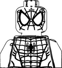 Lego Spiderman Face Coloring Pages Spiderman Home, Hero Spiderman, Football Coloring Pages, Batman Coloring Pages, Spiderman Coloring, Adult Coloring Pages, Christmas Tree Coloring Page
