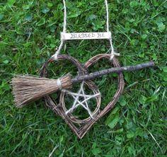 Pagan Handfasting Gifts Pentagram & Besom Heart