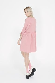 Button-Cuff Angel Dress Pink http://www.thewhitepepper.com/collections/dresses/products/button-cuff-angel-dress-pink Leather Platform Loafer Ivory http://www.thewhitepepper.com/collections/shoes/products/leather-platform-loafer-ivory