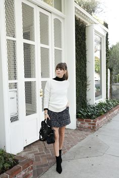 Tweed Mini Skirt | Jenny Cipoletti of Margo & Me