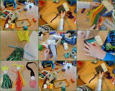 Poppetjes weven op basisschool De Regenboog in Waddinxveen. les 1