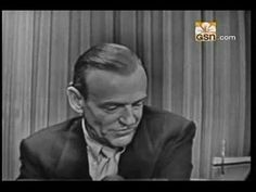 Fred Astaire--What's My Line- Those days actors and actresses were more humble. Fred is so funny in this video, and shows another side. Golden Age Of Hollywood, Classic Hollywood, What's My Line, Fred And Ginger, Perfect Movie, Partner Dance, This Is Your Life, Gene Kelly, Shall We Dance