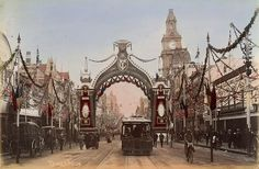 The Duke's Arch 1901. Fed celebration.  (Hand colored photo)