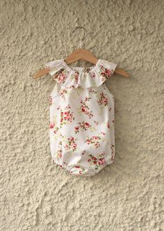 Gorgeous Flower Baby Girls Playsuit Romper...*Made to Order*... Size Newborn - 2 Y Summer Beach Home coming outfit