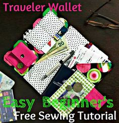 Easy Sewing Project for Travel Wallet - Post-Holiday Stitching!