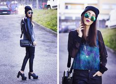 Lovelybreeze Sunnies, Staffbymaff Sweater, Zara Bag, Aimèe Diy Necklace, Chicwish Shoes
