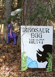 Dinosaur Egg Hunt Sign
