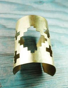 southwestern cutout gold cuff.