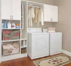 ikea laundry room ideas, like the storage areas. Laundry Room Remodel, Laundry Closet, Small Laundry Rooms, Laundry Room Organization, Laundry Room Design, Laundry In Bathroom, Laundry Organizer, Laundry Area, Closet Wall