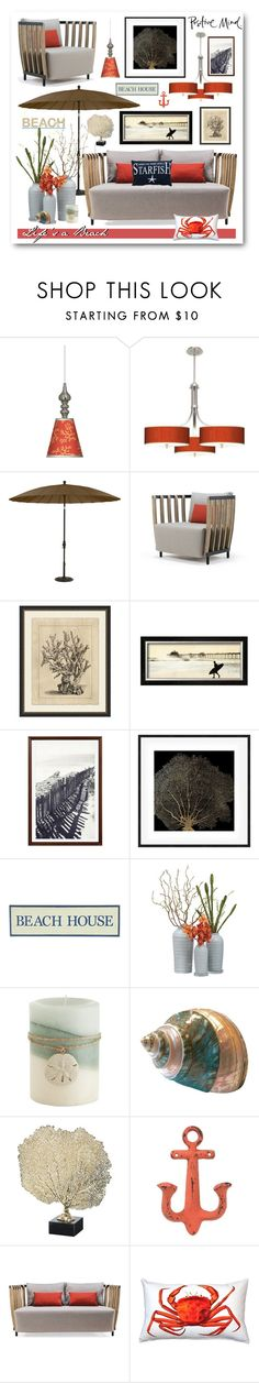 """""""Life at the Beach"""" by esch103 ❤ liked on Polyvore featuring interior, interiors, interior design, home, home decor, interior decorating, Giclee Gallery, Stacy Garcia, Ethan Allen and Ethimo"""