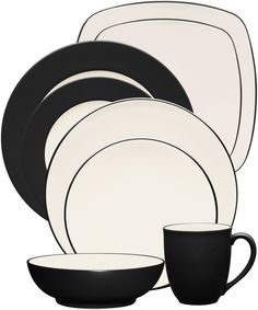 Noritake - Colorwave Collection - Coupe, Rim, Square - Graphite (avail in 14 colors)