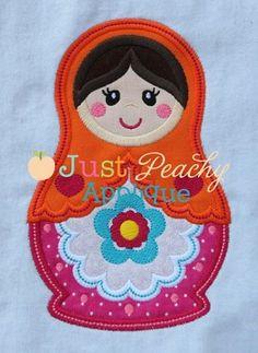 Nesting Doll 1 Applique Design  Just Peachy