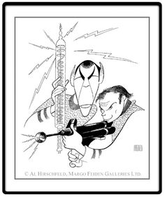 """Star Trek: Captain Kirk and Spock  Hand signed by Al Hirschfeld  Limited-Edition Lithograph  Edition Size: 595.  23"""" x 18"""""""